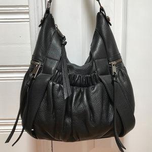 Adrienne Vittadini scrunchy leather hobo bag